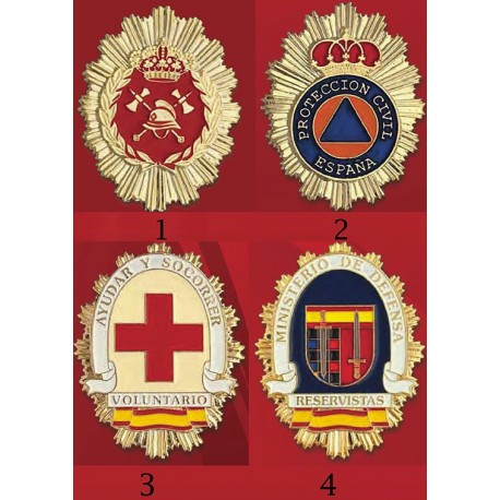 Placas Cuerpos de Emergencia y Voluntariado