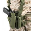 Funda táctica de pernera Blackhawk SERPA nivel 2 - Verde oliva