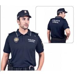 Polo policia Azul manga corta