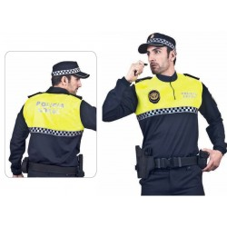Polo policia Bicolor Cuello MAO