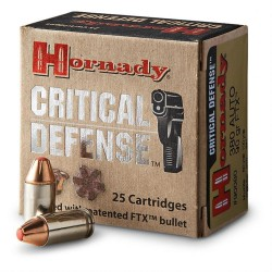 HORNADY CRITICAL DEFENSE 9MM 115gr